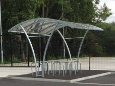 Harlow cycle shelter by Bollard Street, UK Street Furniture Specialists
