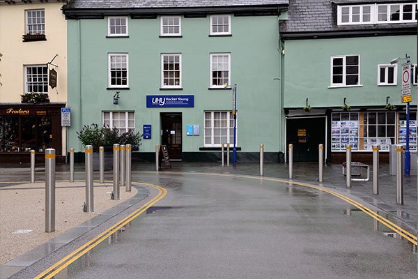 Abergavenny hight street case study by Bollard Street, UK Street Furniture Specialists
