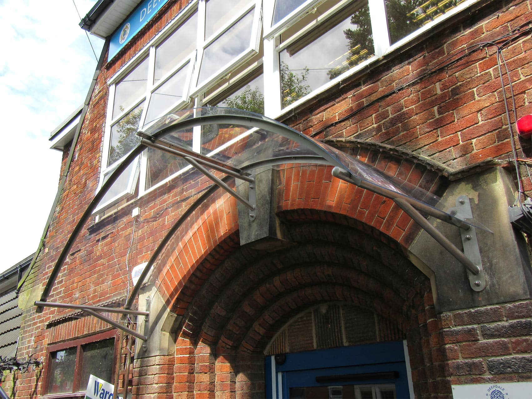 Bespoke canopy, deepdale by Bollard Street, UK Street Furniture Specialists