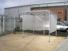 Smoking shelter by Bollard Street, UK Street Furniture Specialists