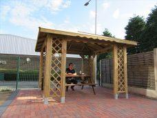 Gazebo smoking shelter by Bollard Street, UK Street Furniture Specialists