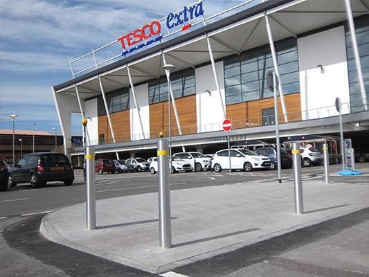Tesco Extra case study by Bollard Street, UK Street Furniture Specialists
