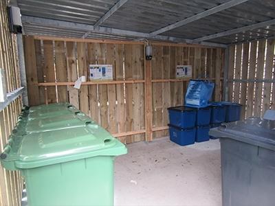 Bin storage by Bollard Street, UK Street Furniture Specialists