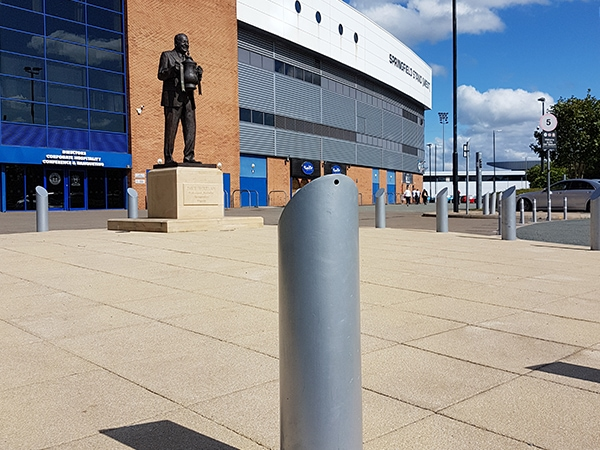 DW Stadium case study by Bollard Street, UK Street Furniture Specialists