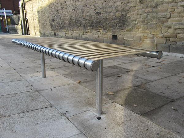 Warwick bench by Bollard Street, UK Street Furniture Specialists